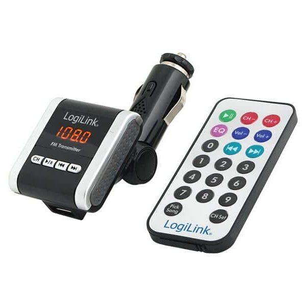 Transmetteur FM LogiLink + lecteur MP3 SD