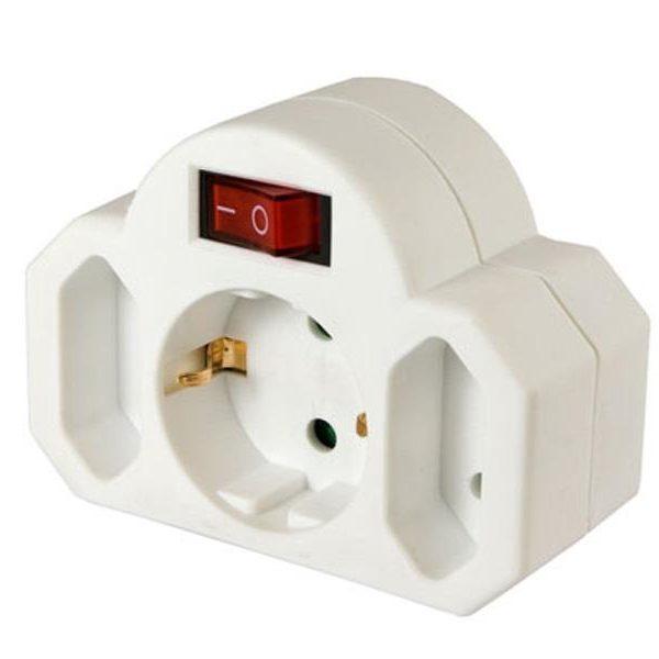 Adaptateur Arcas multiprises avec interrupteur (2+1)85366990
