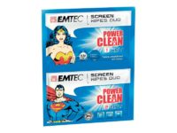 Duo de lingettes nettoyantes PowerClean Superman & Wonder Woman EMTEC63071030
