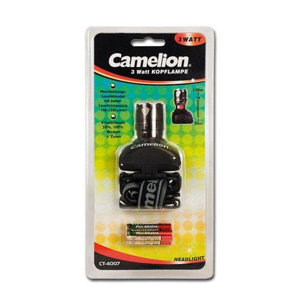 Lampe frontale 3W Camelion (CT-4007)85131000