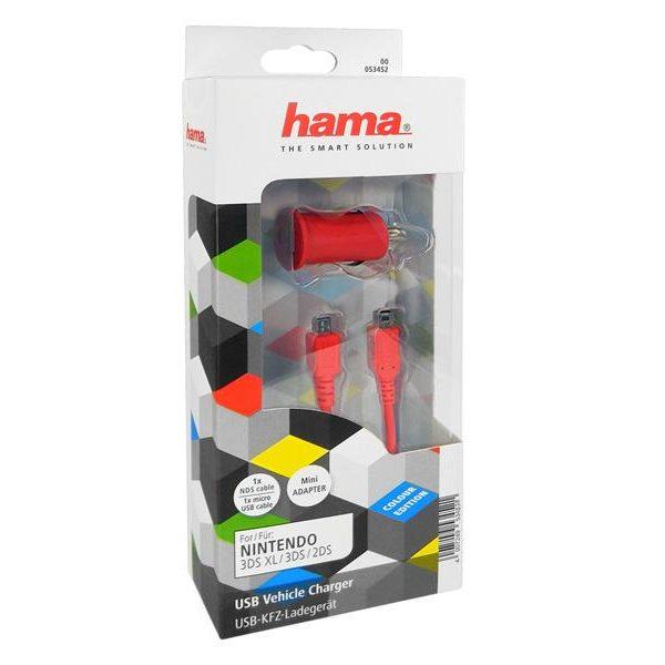 Chargeur voiture USB Hama (pour par ex. Nintendo 3DS XL / 3DS / 2DS)85044055