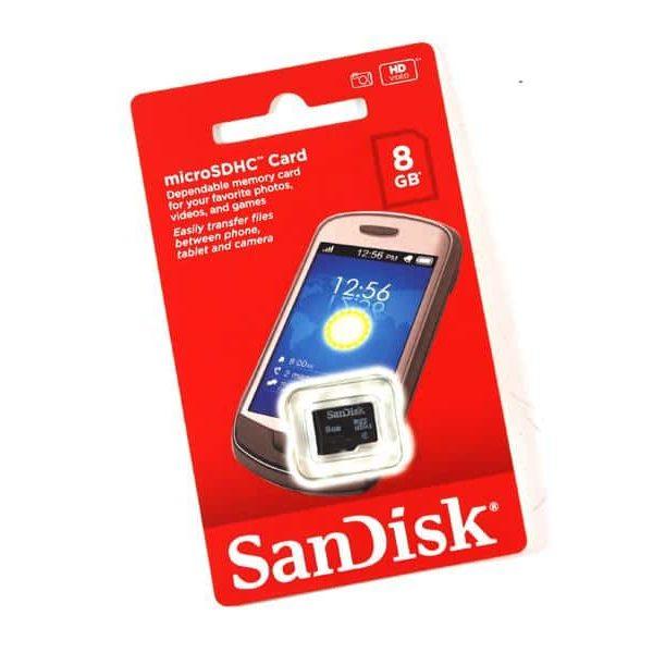 MicroSDHC 8GB Sandisk CL4 sans adaptateur - Sous blister85235110