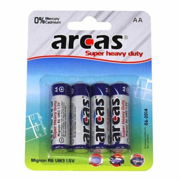 Pack de 4 piles ARCAS R06 Mignon AA85068080