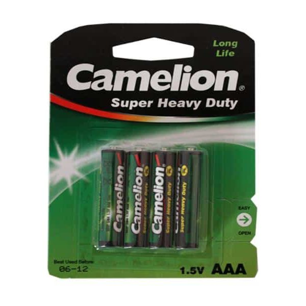 Pack de 4 piles Camelion R03 Micro AAA85068080