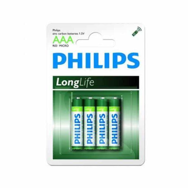 Pack de 4  piles Philips Longlife R03 Micro AAA85068080