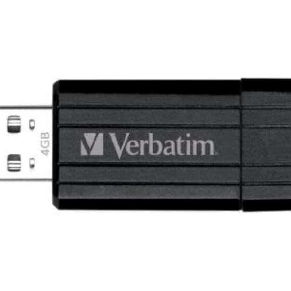 Clé USB 4GB Verbatim PinStripe Noir - Sous Blister85235110