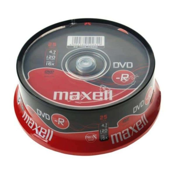 DVD-R 4.7GB Maxell 16x 25er Cakebox