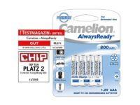 Pack de 4 piles rechargeables Camelion Always Ready Micro AAA 800mAh85061011