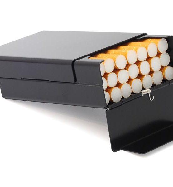 Etui pour cigarettes - Aluminium (Noir)