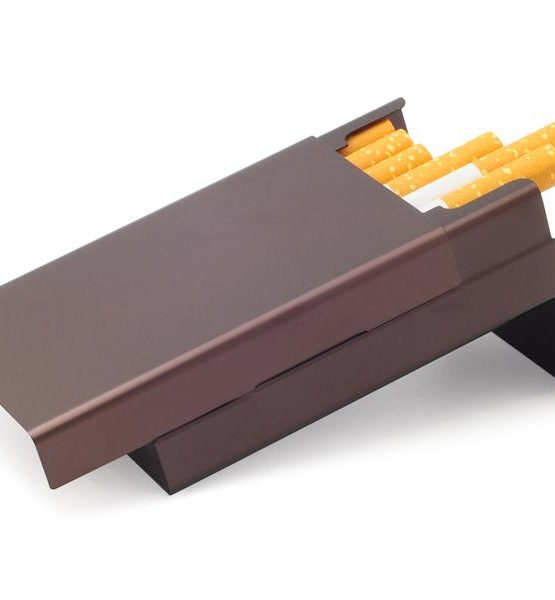 Etui pour cigarettes - Aluminium (Marron)