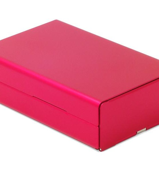 Etui pour cigarettes - Aluminium (Rouge)