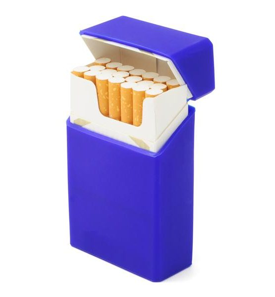 Etui pour cigarettes - En silicone (Bleu)