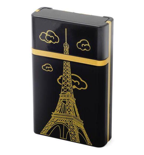 Etui pour 8 cigarettes avec briquet USB (Tour Eiffel Paris)