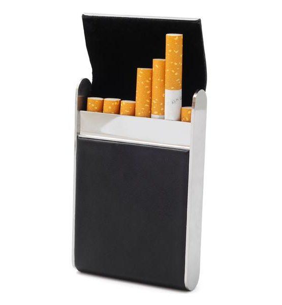 Etui pour 7 cigarettes - Imitation cuir (Noir #7)