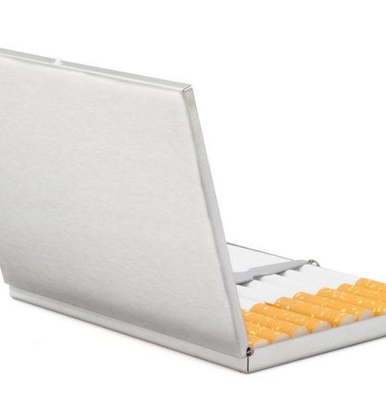Etui pour 9 cigarettes - Métal (Argenté - Slim #9)