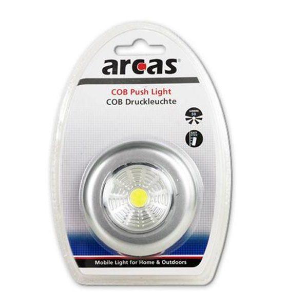 Lampe pression Arcas COB Push Light (50 Lumens) Blanc/argenté85131000