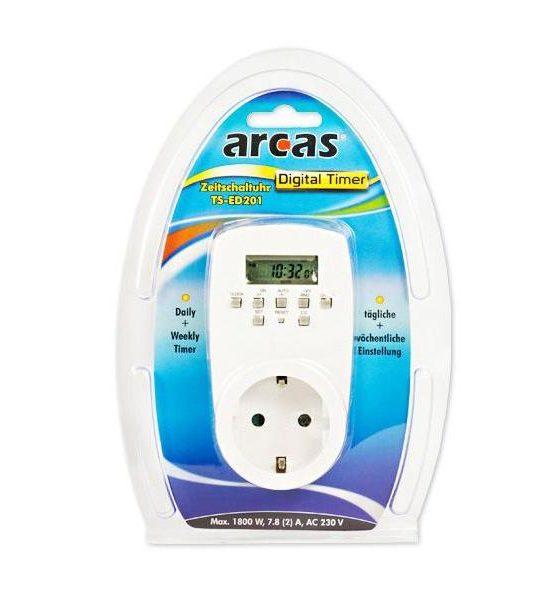 Prise programmable Arcas TS-ED201 (Blanc)85044055